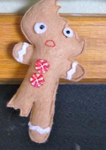 Bitten Gingerbread Man