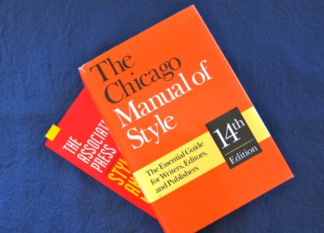 AP Stylebook and Chicago Manual of Style (14th edition)